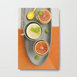 Citrus fruit Metal Print