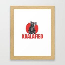 Highly Koalafied Plumber print Funny graphic Framed Art Print