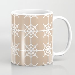 Radial Arrows Clover Pattern - White and Hazelnut Coffee Mug