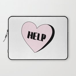 Help Candy Heart Laptop Sleeve