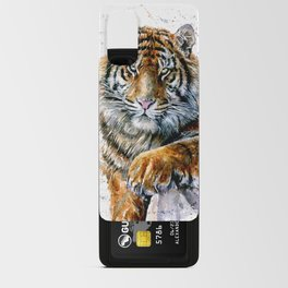 Tiger watercolor Android Card Case