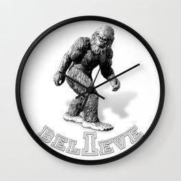 The Hide & Seek Champion I BELIEVE Funny Bigfoot Design Wall Clock