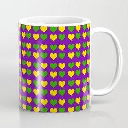 Mardi Gras Hearts Coffee Mug