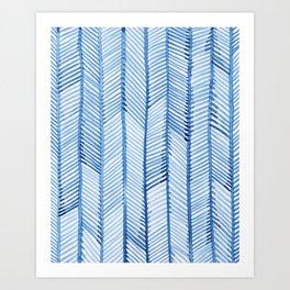 Blue Quills Art Print
