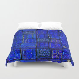 -A2- Lovely Calm Blue Traditional Moroccan Pattern Artwork. Duvet Cover