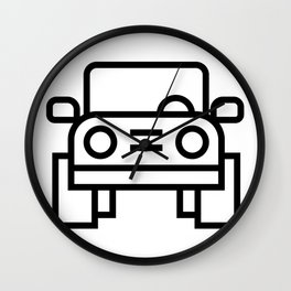 Jeep 4x4 Car Icon (Front-View) Wall Clock