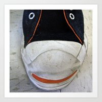 Shoe Smiley, #1 Art Print