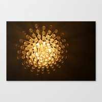 chandelier Canvas Prints featuring Chandelier by Michelle Capobianco