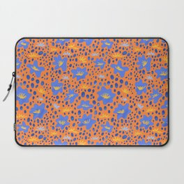 illustration of flowers in bright, colorful art/ modern abstract botanical drawing decor Laptop Sleeve