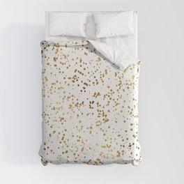 Elegant Luxury Sparkling Gold Confetti Dots Image Duvet Cover