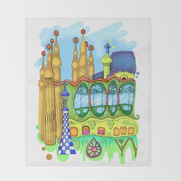 Barcelona Throw Blanket