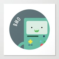 bmo Canvas Prints featuring BMO by gaps81