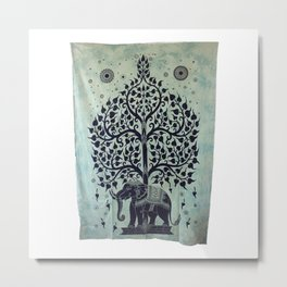 Indian Tapestry Tree of Life with Elephant Wall Decor - See more at: http://www.handicrunch.com/en/p Metal Print