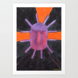 Purple Projector Art Print