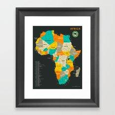 AFRICA MAP Framed Art Print