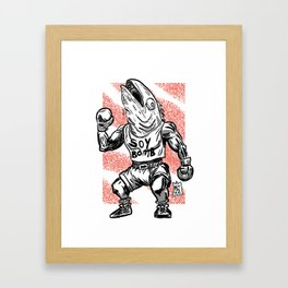 365 Space Wrestlers: Harry Hamachi Framed Art Print