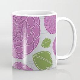 Purple Rose Pattern Coffee Mug