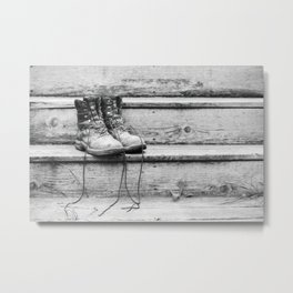 Work Boots 2 Metal Print