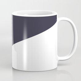 Urban Geometry Navy Blue + White Coffee Mug
