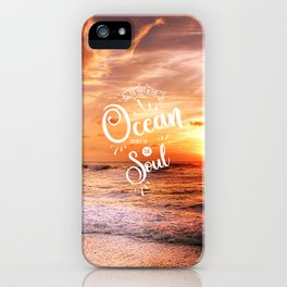 The Voice of the Ocean iPhone Case