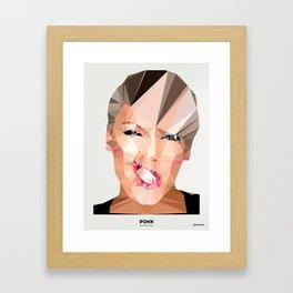 Pink Poly Framed Art Print