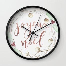 Joyeux Noel // Merry Christmas Wall Clock