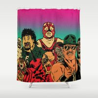 old school Shower Curtains featuring OLD SCHOOL by alexis ziritt