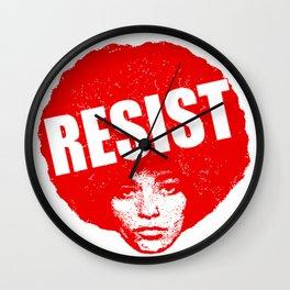 Angela Davis - Resist (red version) Wall Clock