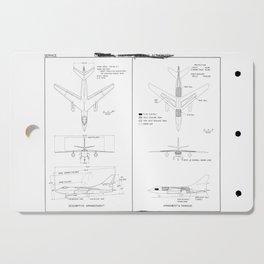 Douglas A-3D-1 Skywarrior Schematic Cutting Board