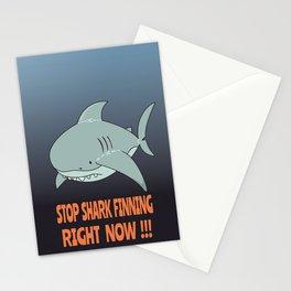 Stop shark finning Stationery Cards