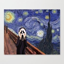 Scream Scary movie Canvas Print