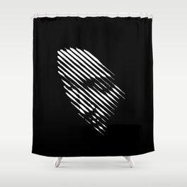 Face Lines Shower Curtain