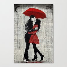 rain kisses Canvas Print