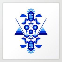 Libra in Blue Art Print
