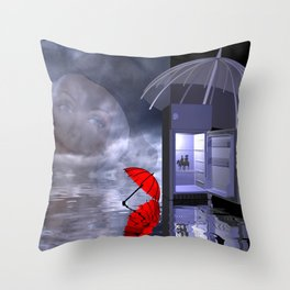 dreaming of the sun Throw Pillow