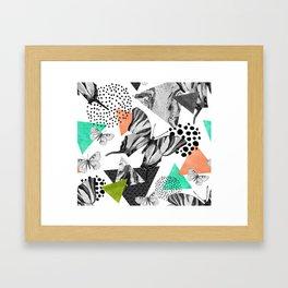 Abstract natural geometric seamless pattern Framed Art Print