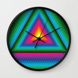 Triangle Of Life Wall Clock