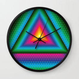 Triangle Of Life Wall Clock