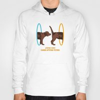 aperture Hoodies featuring Aperture Science - Canine Aptitude Testing by Visual World