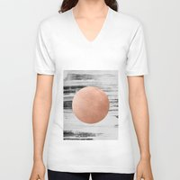 rose gold V-neck T-shirts featuring rose gold #1 by LEEMO