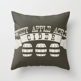 Sweet Apple Acres Cider Throw Pillow