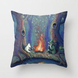 Moomin's night Throw Pillow