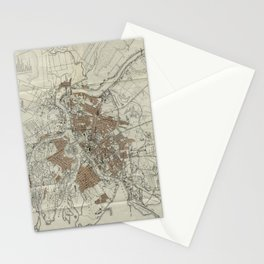 1893 Historic Map of St. Petersburg Stationery Cards