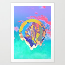Psychedelic Clouds Art Print