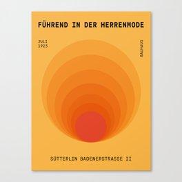 Sun Spiral   Bauhaus I Canvas Print