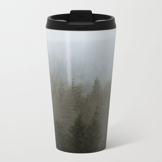Snowy Forks Forest Metal Travel Mug
