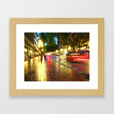 They Only Come Out At Night Framed Art Print