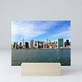 NYC Skyline from Long Island City Mini Art Print