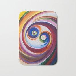 Multicolored spirals Bath Mat