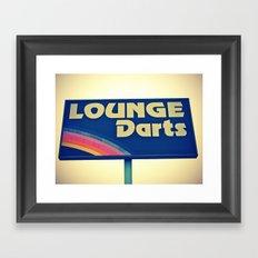 Lounge Darts sign Framed Art Print